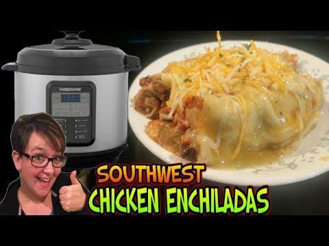 Making Food Monday: Pressure Cooker Southwest Chicken Enchiladas