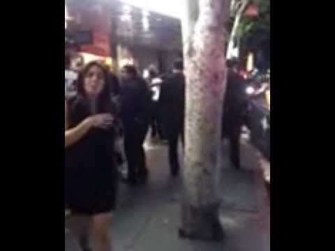 FIGHT OUTSIDE OF PLAYHOUSE NIGHTCLUB HOLLYWOOD.