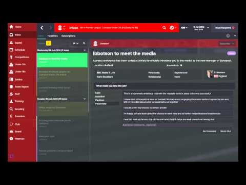 Football Manager Liverpool Career