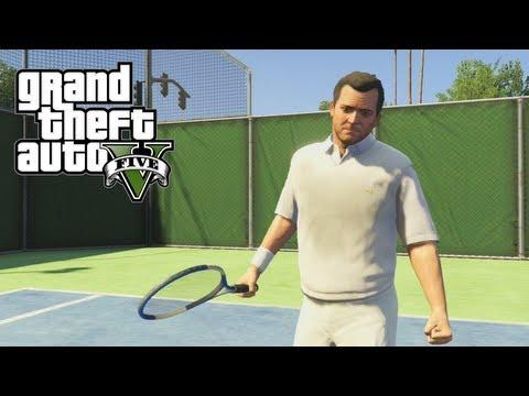 GTA 5: Fun Tennis Match! - Improve Stamina & Earn Money! (GTA V)