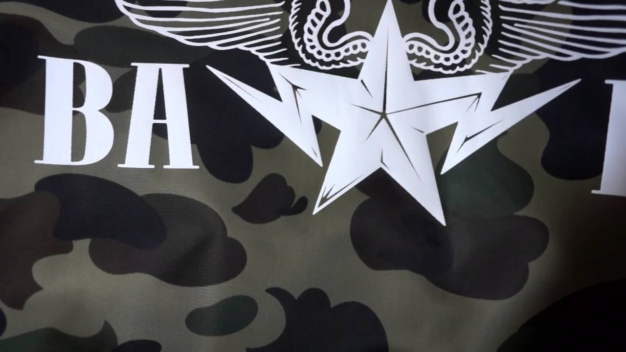 newest f4de4 f7582 A Bathing Ape (BAPE) 1st Camo Green Lightweight MA-1 Bomber Jacket Unboxing   Review - YouTube
