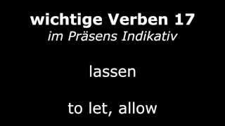 Learn German Verbs - Lesson 17 - lassen (let) - Verben im Präsens (High Quality Audio) 2013