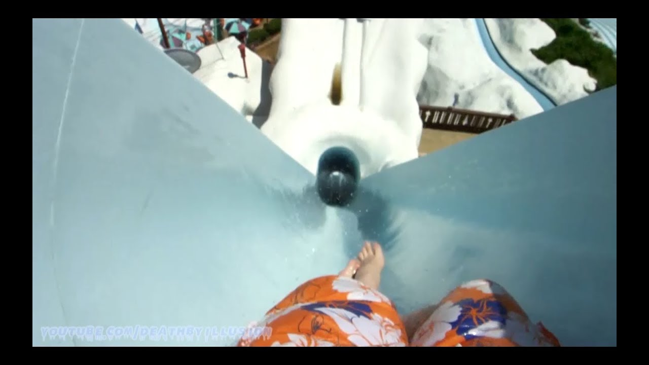 Summit Plummet Free Fall Body Slide Hd Pov Blizzard Beach Wdw