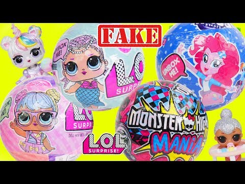 Custom Unicorn LOL Surprise Doll Opens Fake Lil Luxe Baby Pets for Lil Sisters + Big Customized DIY