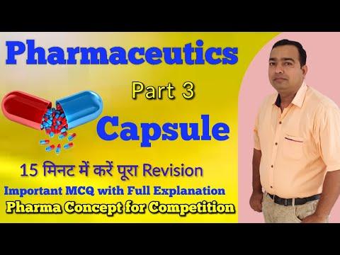 Capsule | Pharmaceutics | Part 3 | GPAT Exam | Pharmacist Exam | NIPER Exam | Drug Inspector Exam