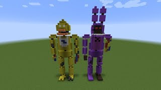- Minecraft Mini Build FNAF Statues 1987 Part 2