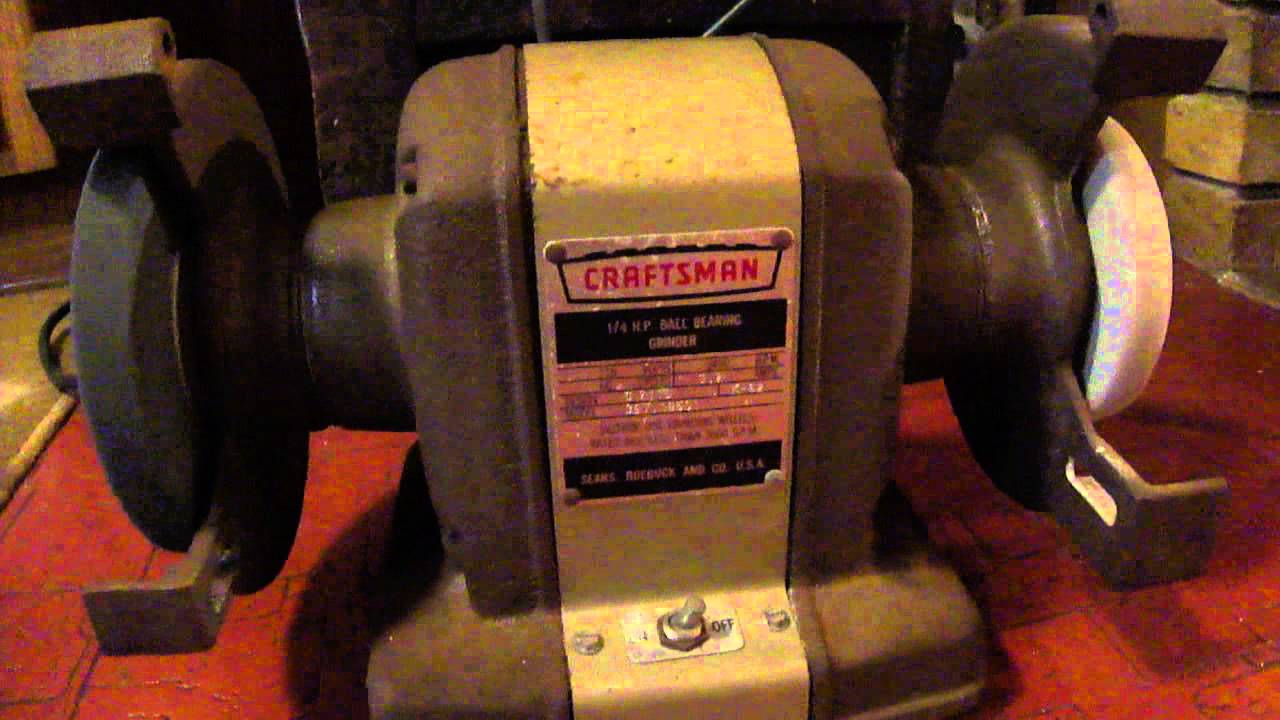 Vintage Craftsman 1 4 Hp Bench Grinder Mod 397 19501 Design 2110 Built In 1962 Youtube
