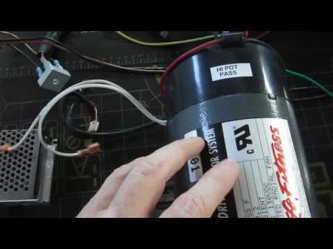 SCR Motor Speed Controller Demo using a DC Treadmill Motor