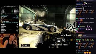 Twitch reacts to World Record - NFS Most Wanted any% Glitchless 6:56:03