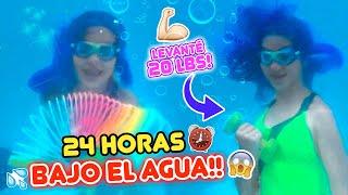 24 HORAS viviendo BAJO EL AGUA! | Leyla Star 💫