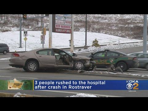 3 Hospitalized After Rostraver Crash