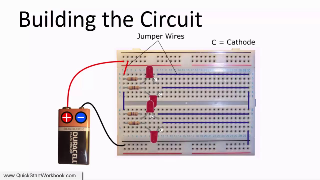 how to connect multiple leds in parallel electronics for absolute beginners [ 1280 x 720 Pixel ]