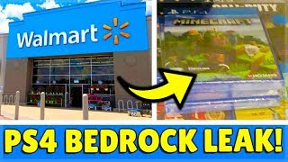 MINECRAFT PS4: BEDROCK EDITION - LEAKED DISC COPY FOUND IN STORES! (Must watch!)