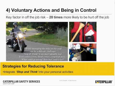 Safety Webinar: Reducing Risk Tolerance