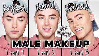 NATURAL MALE MAKEUP ROUTINE - 3 Levels of Makeup