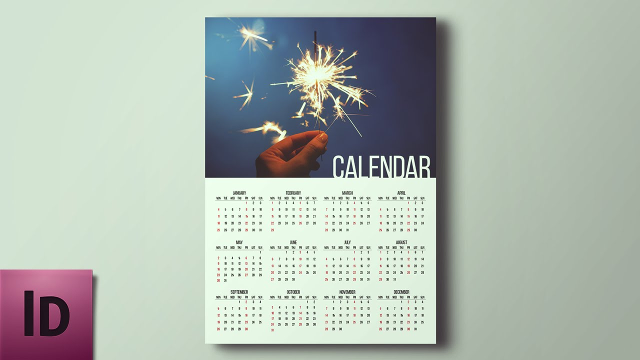 Adobe Images Search How To Create A Calendar Indesign Tutorial Youtube