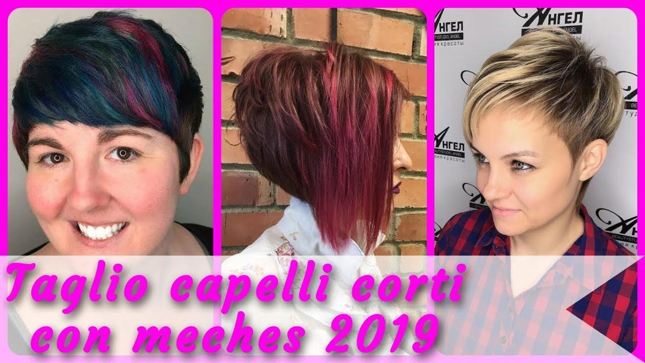 💐 Top 20 taglio capelli corti con meches 2019 💐 - YouTube