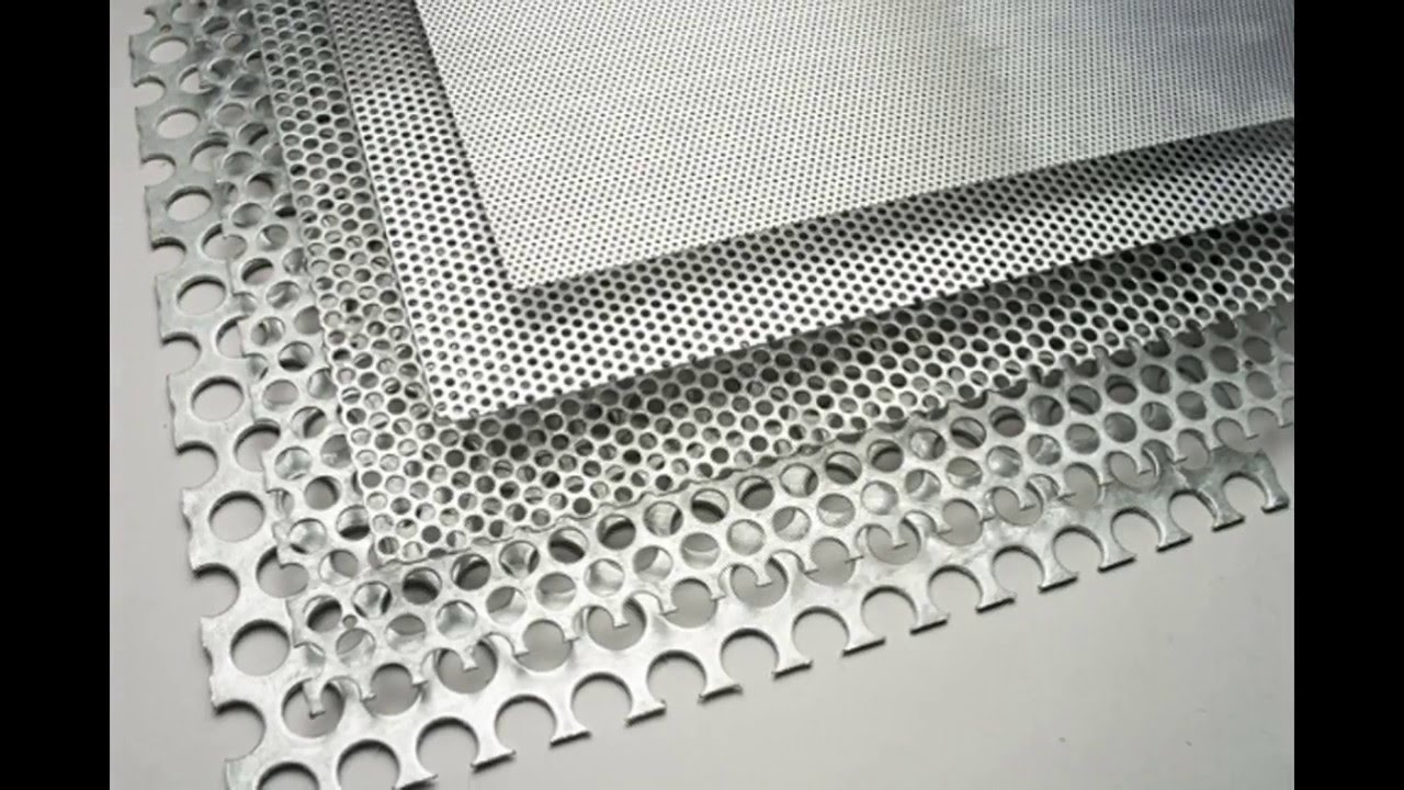 Round Perforation Sheets Perforated Metal Mesh Hexagonal