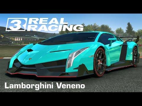 เกมส์รถแข่งสุดมัน Real Racing 3 - Lamborghini Veneno Full Ops(ipad air 2)
