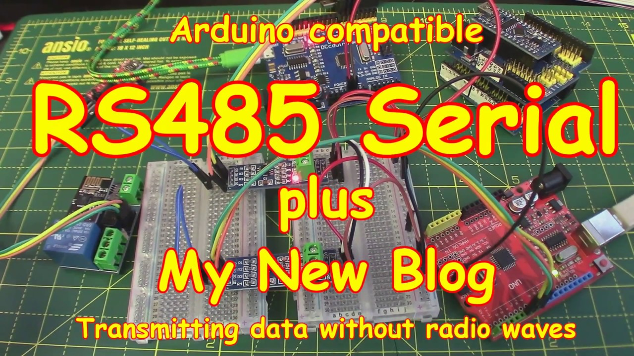 #106 RS485 Serial Data Transmission - on wires (no radio waves)