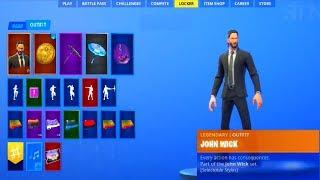 The new JOHN WICK skin, FREE backpack in the Fortnite...