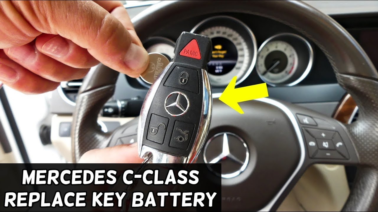 How To Replace Key Battery On Mercedes W204 C180 C200 C220 C250 C260 C280 C300 C350