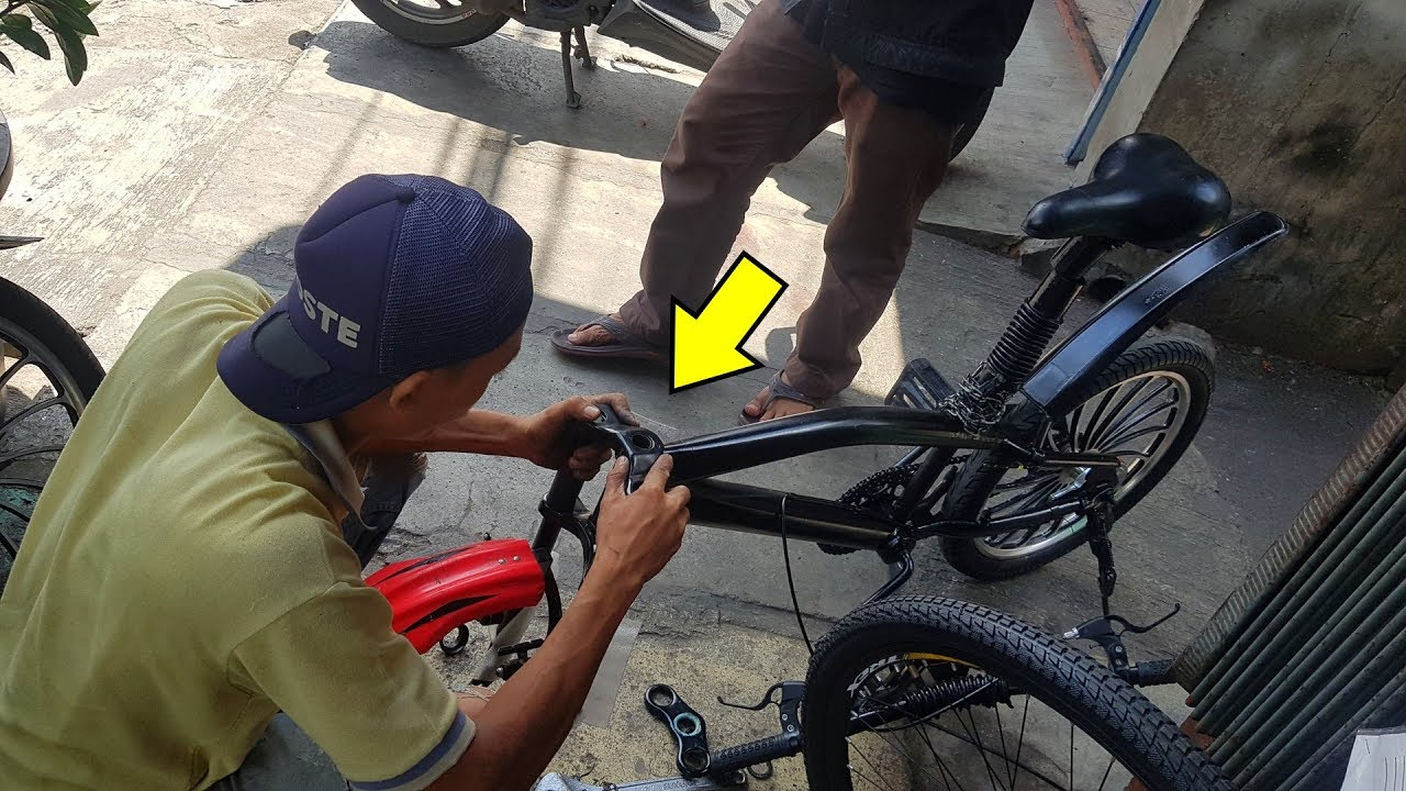 Sepeda Bmx Modifikasi Pakai Fork Tinggi Dan Full Suspension How To Modification Your Bmx Youtube