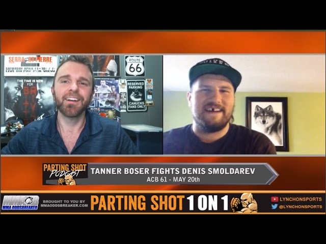 Tanner Boser talks ACB 61 fight May 20th & rants on fighters having GoFundMe pages