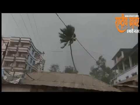 बांग्लादेश में अचानक आये तूफान से तबाही कई मरे