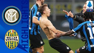 Inter fought back from conceding an early lead in the first half with a stunning strike nicolò barella ensuring victory for | serie athis is t...