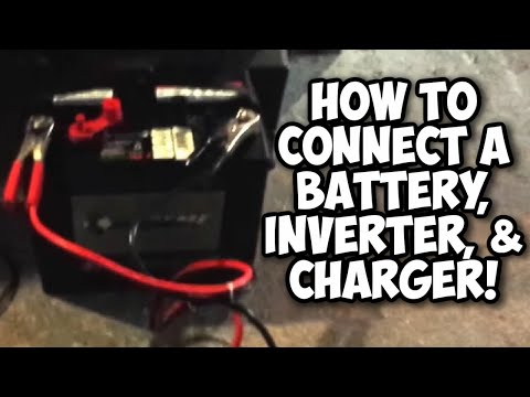 How To Use Battery Volt Inverter And Charger