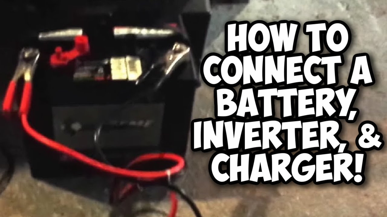 How To Use A Battery 12 Volt Inverter And Charger Youtube Er Trailer Wiring Diagram On House