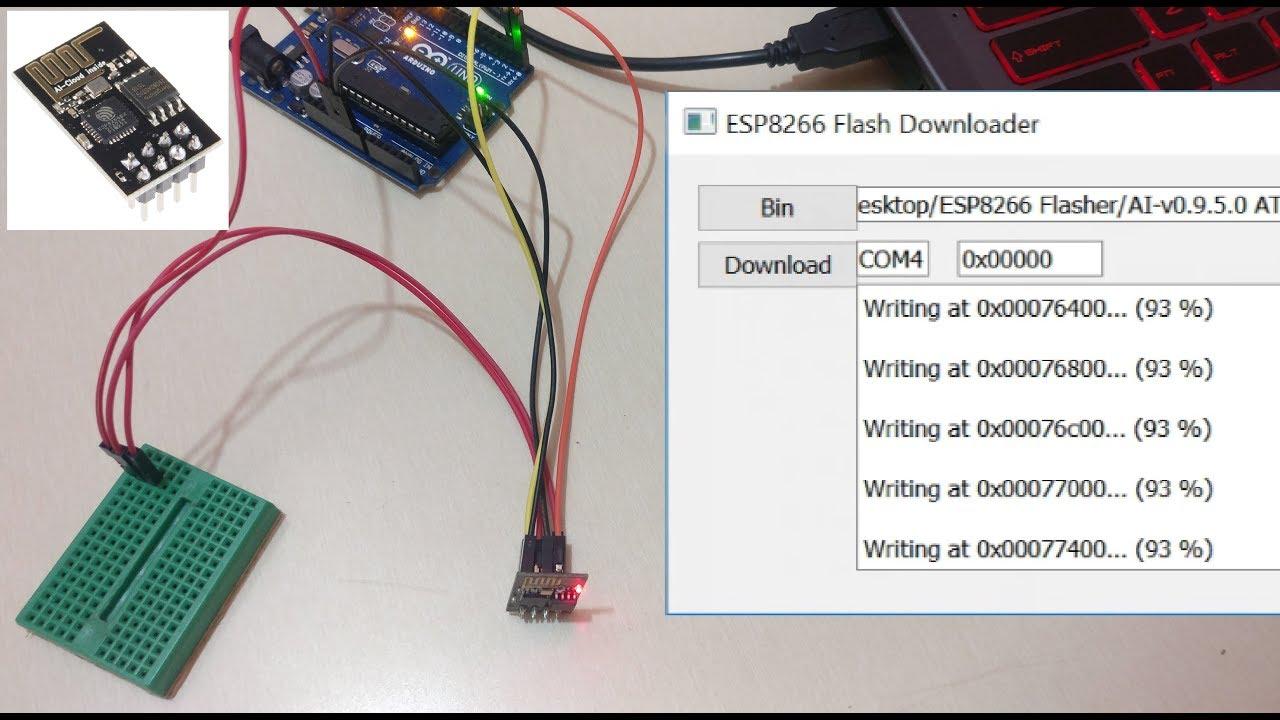 esp8266 firmware update using arduino uno