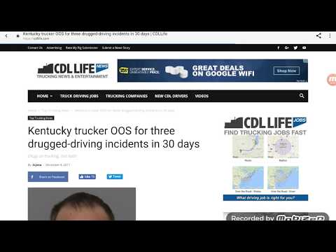 Kentucky Trucker Caught Drugged Driving 3 Times In 30 Days