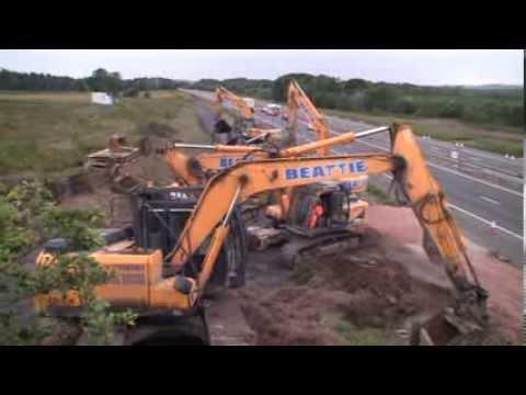 Balfour Beatty demolishes M8 bridge to create junction