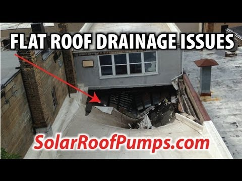 how to fix flat roof ponding