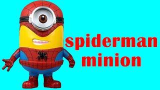 How To Make Spiderman Minion Play Doh Clay - Playdough Disney Marvel Superhero Spider-man