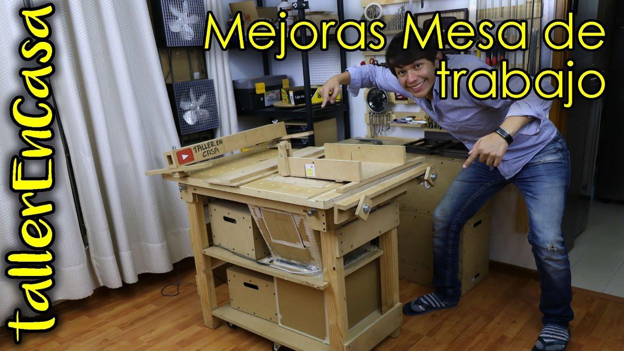 Mesa de trabajo multifuncional carpintero mejoras for Mesa plegable trabajo