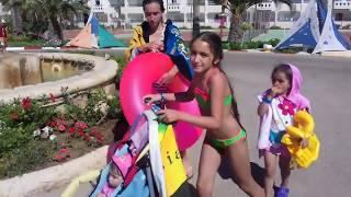 Тунис-экскурсия по нашему отелю Houda Golf and Beach Club, аквапарк, пенная вечеринка. Июнь 2018