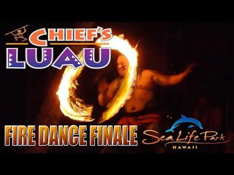 Chief's Luau Fire Dance Finale (Sea Life Park - O'ahu, Hawaii) 11-4-15