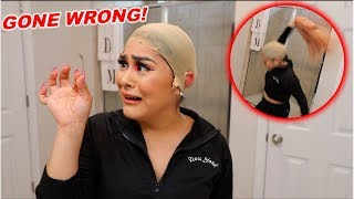 i tried putting on a wig for the first time & this is how it went... NEVER AGAIN