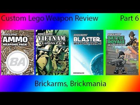 Custom Lego Weapons Review: Brickmania Brickarms Part 6
