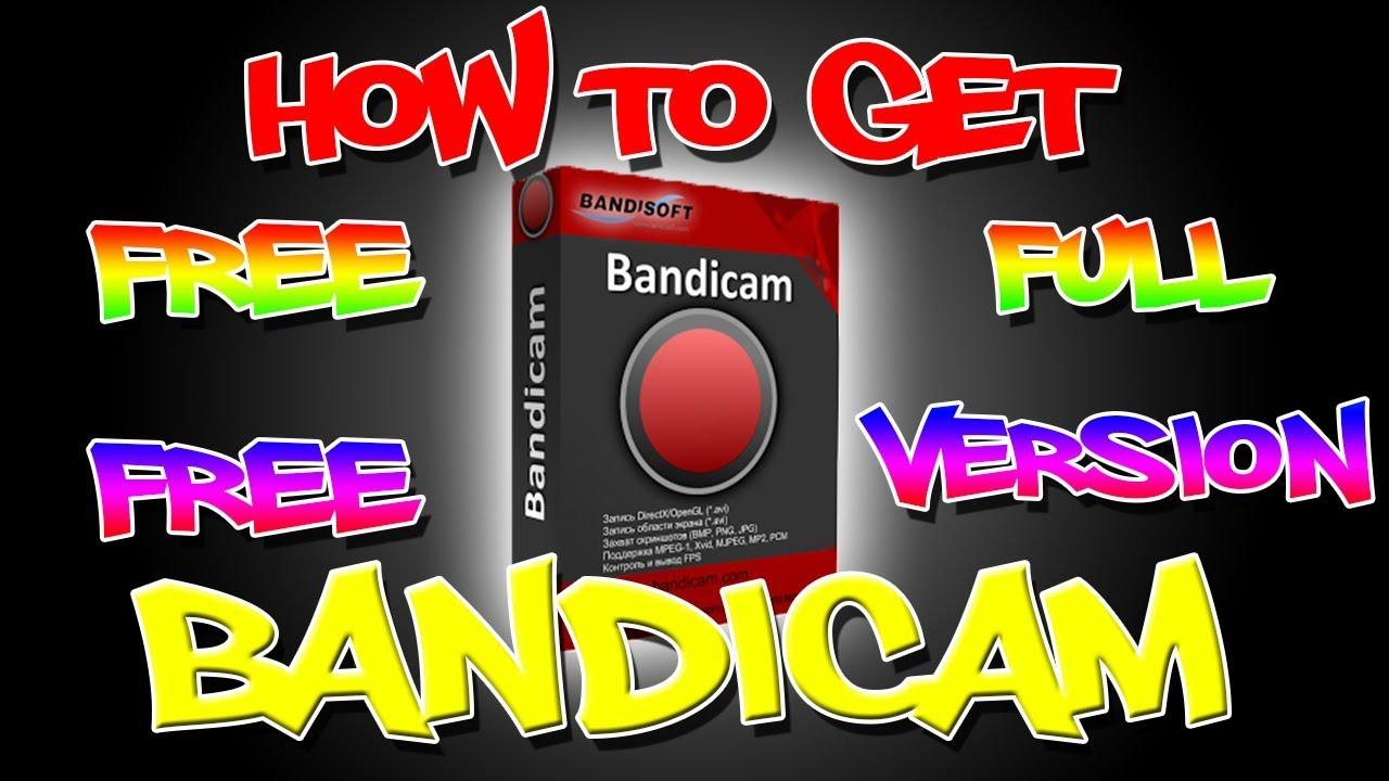 bandicam free register
