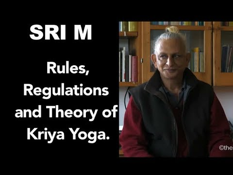 Sri M - Rules, Regulations and Theory of Kriya Yoga - Day 2 Satsang (2) Cynham Retreat 2018