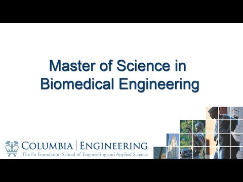 Master of Science in Biomedical Engineering