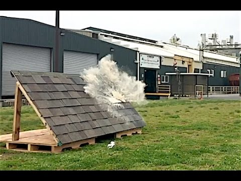 Soda Cannon Impact Test On Malarkey Roofing Shingles Youtube