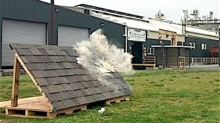 Soda Cannon Impact Test on Malarkey Roofing Shingles video thumbnail