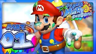Super Mario Sunshine - Part 1- Isle Delfino (Dolphin HD)