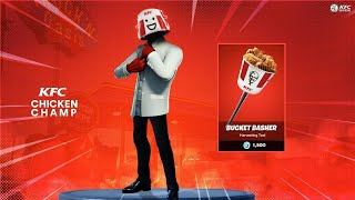 Skin of KFC that could soon reach #Fortnite (Skin posted by KFC)