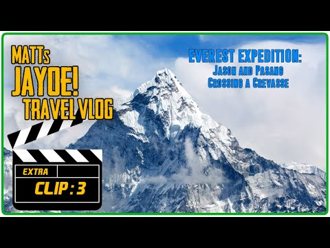 EVEREST EXPEDITION CLIP: Jason and Pasang Crossing a Crevasse